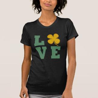 irish pride lucky green gold love shamrock t-shirt