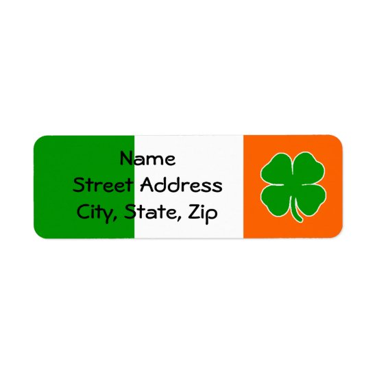 [Irish Pride] Shamrock Flag Label