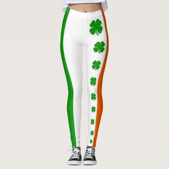 [Irish Pride] Shamrock Flag Leggings