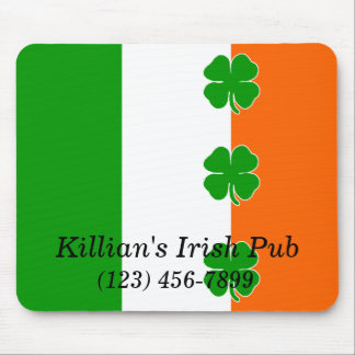 """Irish Pride"" Shamrock Flag Mouse Pad"
