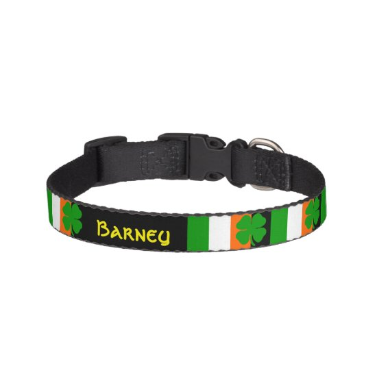 [Irish Pride] Shamrock Flag Pet Collar
