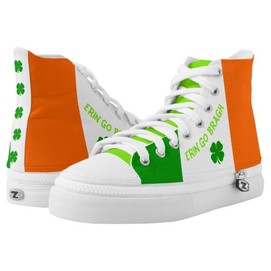 [Irish Pride] Shamrock Flag Sneakers