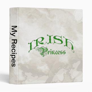 Irish Princess 3 Ring Binder