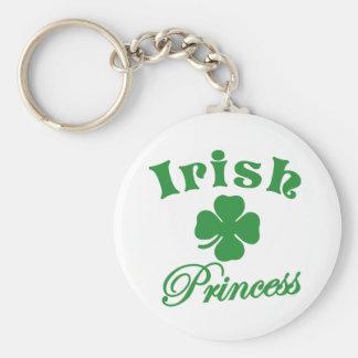 Irish Princess Basic Round Button Keychain