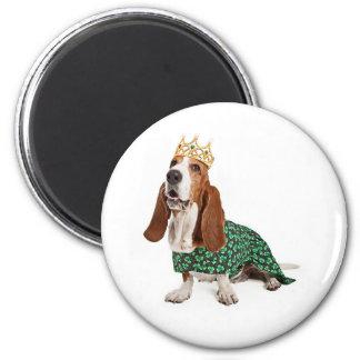 Irish Princess Basset 2 Inch Round Magnet