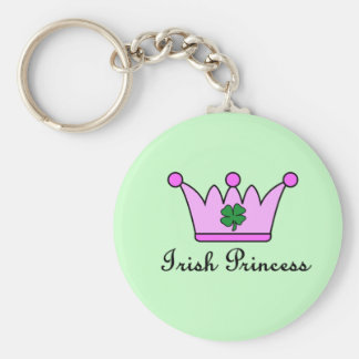 irish princess crown keychain