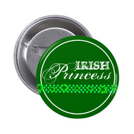 Irish Princess Green Shamrocks Pins