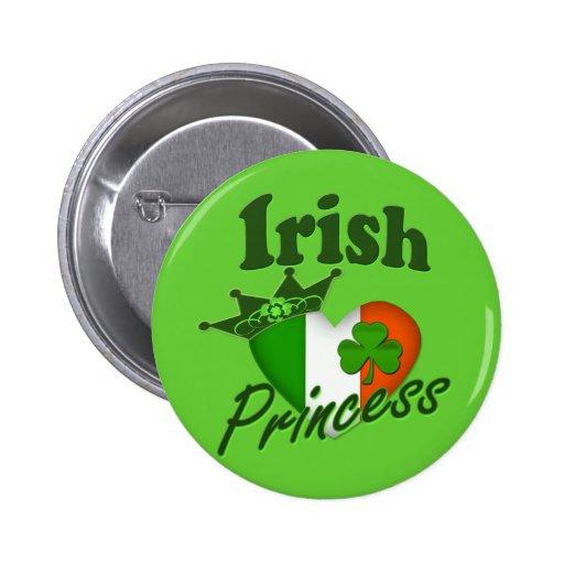 Irish Princess Heritage Heart Button