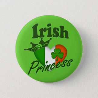 Irish Princess Heritage Heart Pinback Button