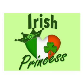 Irish Princess Heritage Heart Postcard