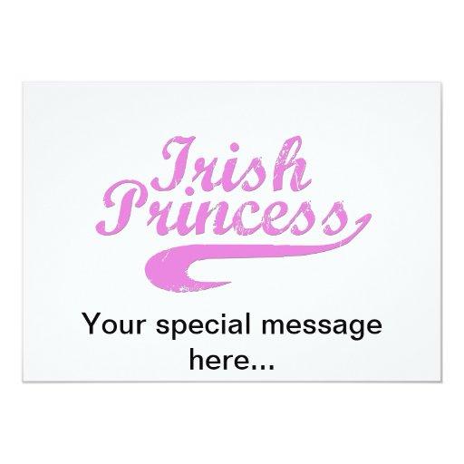 Irish Princess in Pink 5x7 Paper Invitation Card