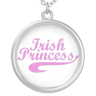 Irish Princess in Pink Round Pendant Necklace