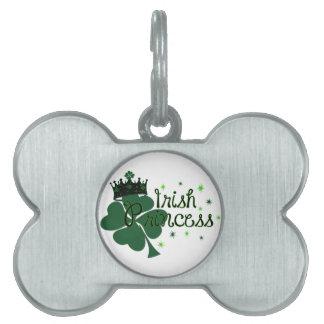 Irish princess pet ID tag
