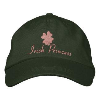 Irish Princess, Pink and Green Embroidered Hats