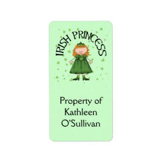 Irish Princess Redhead Address Label