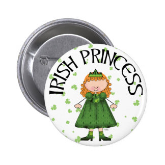 Irish Princess Redhead Pinback Buttons