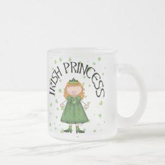 Irish Princess Redhead Frosted Glass Coffee Mug