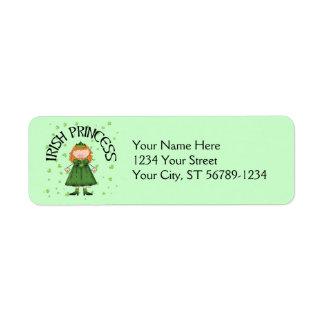 Irish Princess Redhead Return Address Label