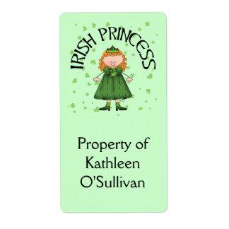 Irish Princess Redhead Shipping Label