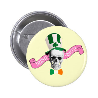 Irish princess  St Patrick's day Button