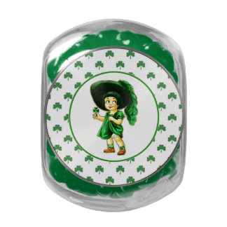 Irish Princess. St. Patrick's Day Gift Candy Jelly Belly Candy Jar