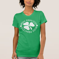 Irish Princess St Patricks Day Shamrock Womens Tee