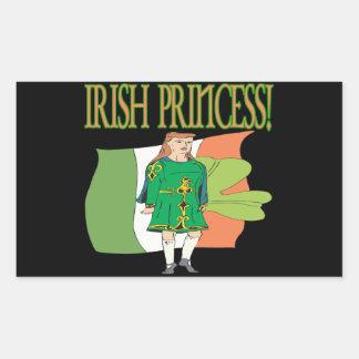 Irish Princess Rectangular Sticker