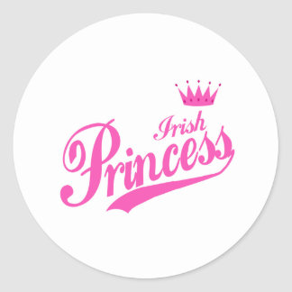 Irish Princess Classic Round Sticker