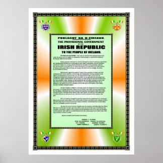 IRISH PROCLOMATION POSTERS