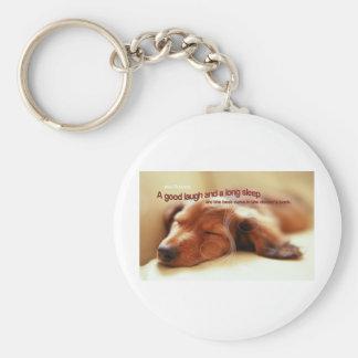 Irish Proverb and Sleeping Dog Keychain