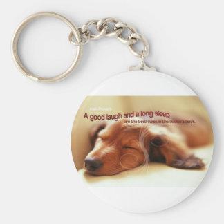 Irish Proverb and Sleeping Dog Keychains