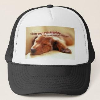 Irish Proverb and Sleeping Dog Trucker Hat
