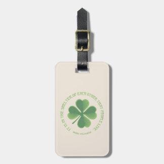 Irish Proverb Bag Tag