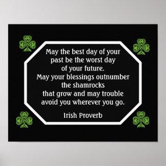 Irish Proverb -Best Day -- Art Print