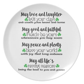 Irish Proverb Blessing Melamine Plate