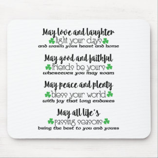 Irish Proverb Blessing Mouse Pad