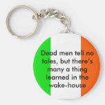 Irish Proverb Dead Men tell no tales Key Chain
