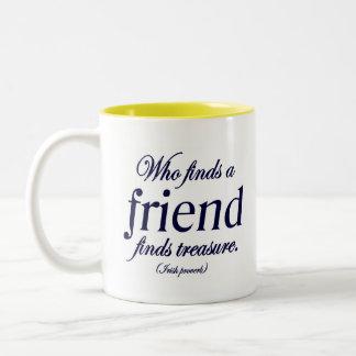 Irish Proverb Friend Quote Two-Tone Coffee Mug