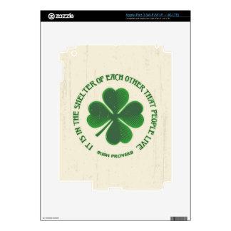 Irish Proverb iPad 3 Skins
