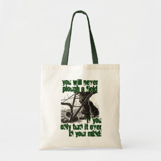 Irish Proverb Plough Plowing Truism Totes Tote
