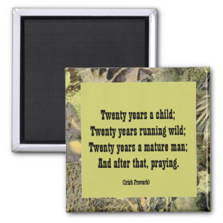 Irish Proverb. twenty year cycles of life Magnet