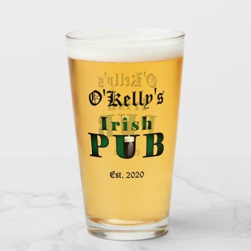 Irish Pub Bar Tavern Beer Pint Glasses