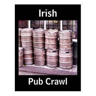 Irish Pub Crawl Postcard