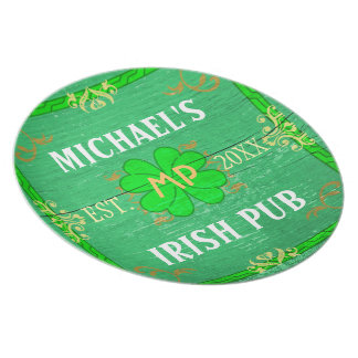 Irish Pub Create Your Own Home Bar Personalized Dinner Plate