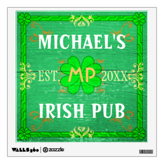 Irish Pub Create Your Own Personalized Home Bar Wall Decal