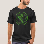 Irish Pub Harp Black Basic T-shirt