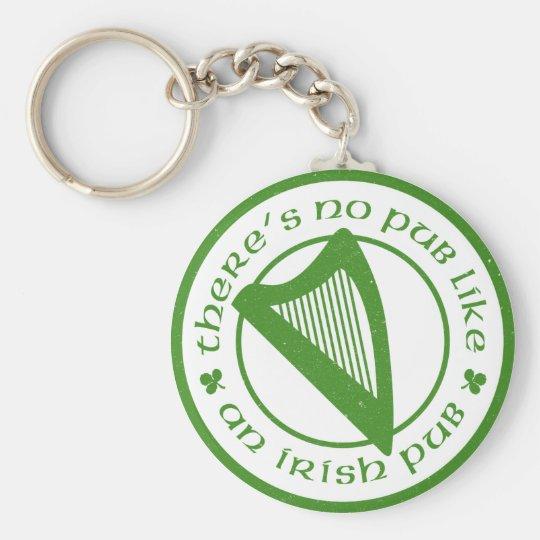Irish Pub Harp Keychain