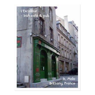 Irish Pub in St. Malo, France Postcard