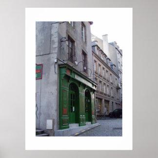 Irish Pub in St. Malo, France Poster