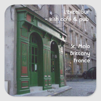 Irish Pub in St. Malo, France Square Sticker